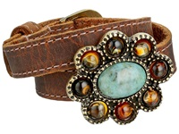 Leather Rock B645 Tobacco Bracelet Brown