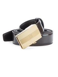 Dunhill Smooth Leather Facet Belt No Color
