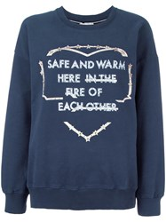Each X Other 'Safe And Warm' Sweatshirt Blue