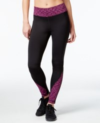 Ideology Id Warm Fleece Lined Space Dyed Inset Leggings