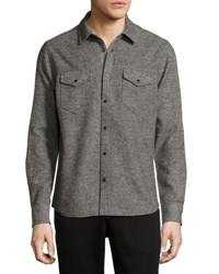 Atm Anthony Thomas Melillo Donegal Twill Button Shirt Multi