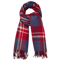 Phase Eight Gigi Tartan Scarf Navy Red