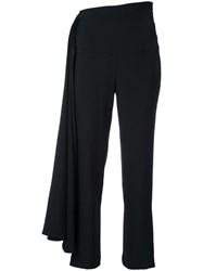 Brandon Maxwell Cropped Trousers Black