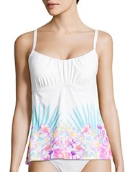 Coco Reef Floral Print Squareneck Tankini Pink