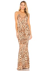 Norma Kamali Fishtail Combo Gown Brown
