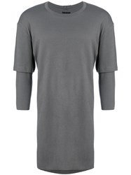The Viridi Anne Layered T Shirt Grey