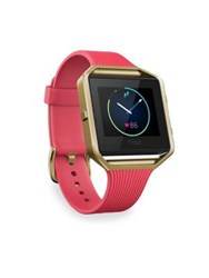 Fitbit Classic Blaze Large Goldtone Fitness Watch Pink Gold