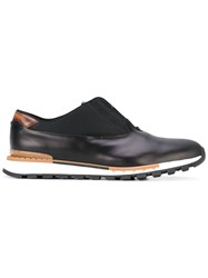 Berluti Glace Sneakers Men Cotton Leather Polyester Rubber 10 Black