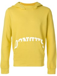 Dondup Front Pocket Hoodie Yellow And Orange