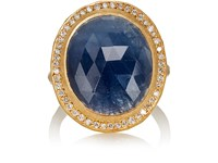 Malcolm Betts Women's Oval Blue Sapphire And Yellow Gold Ring