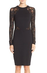 French Connection Women's 'Viven' Lace Long Sleeve Sheath Dress