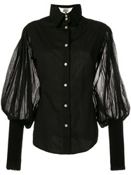 Gianfranco Ferre Vintage 2000'S Juliet Sleeves Shirt Black