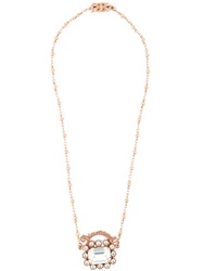 Mawi Diamond Word Crystal Pendant Necklace White