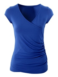 Jane Norman Wrap Top Blue