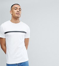 Selected Homme Tall T Shirt With Stripe And Pocket Detail Bright White