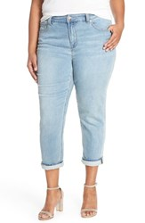 Plus Size Women's Melissa Mccarthy Seven7 Stretch High Rise Crop Girlfriend Jeans Darling