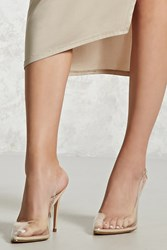 Forever 21 Clear Pointed Toe Stilettos