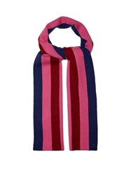 Charlotte Simone Striped Wool Blend Scarf Pink