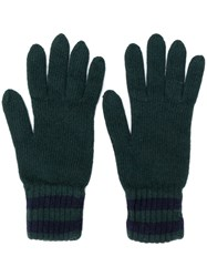 Pringle Of Scotland Knitted Gloves Green