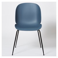 Gubi Beetle Dining Chair Un Upholstered Blue Grey And Black