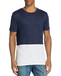 Onia Chad Color Block Tee Deep Navy White