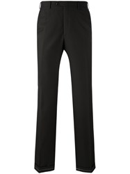 Brioni Straight Trousers Men Silk Virgin Wool 58 Black