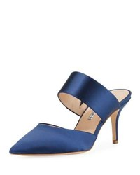 Charles David Amelie Two Band Heeled Mule Navy