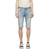 Unravel Blue Denim Dirty Distressed Shorts