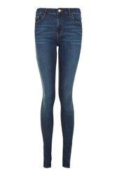 Topshop Tall Let Down Hem Leigh Jeans Indigo