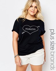 Alice And You Fearless Motif Tee Navy