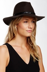 San Diego Hat Company Oversized Wool Fedora Brown
