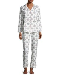 Bedhead Print Classic Pajama Set Chandelier Damask