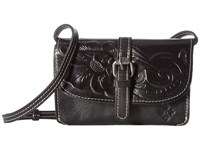Patricia Nash Tooled Torri Black Cross Body Handbags