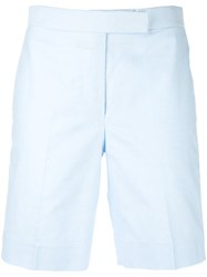 Thom Browne Fitted Shorts Women Silk Cotton 40 Blue