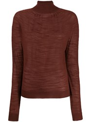 Christophe Lemaire Turtle Neck Sweater Brown