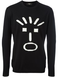 Fendi Face Intarsia Jumper Black