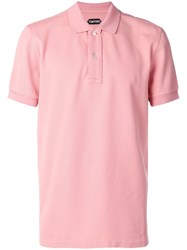 Tom Ford Short Sleeve Polo Shirt Pink