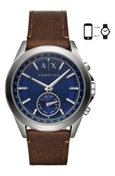 Armani Exchange Ax Connected Hybrid Leather Strap Smartwatch 44Mm