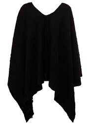 Label Under Construction Oversized Poncho Black