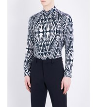 Etro Aztec Zebra Print Regular Fit Cotton Shirt Mono