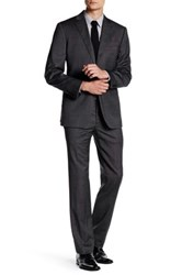 John Varvatos Chad Black Two Button Notch Lapel Suit Gray