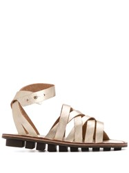Trippen Nepal Strappy Sandals Gold