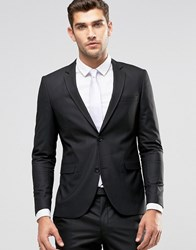 Jack And Jones Premium Skinny Suit Jacket In Black Black