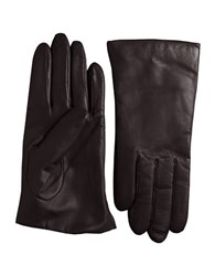 Lord And Taylor Cashmere Lined Leather Gloves Brown