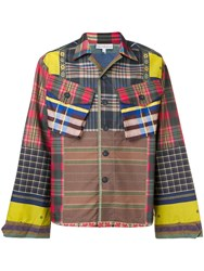 Pierre Louis Mascia Patchwork Print Jacket Brown