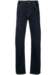 Emporio Armani Straight Cut Jeans Blue