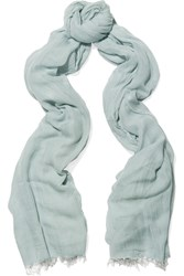 Donna Karan Modal And Cashmere Blend Scarf Green