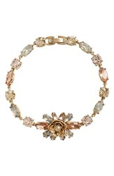 Women's Marchesa Jeweled Cluster Line Bracelet Pink Multi
