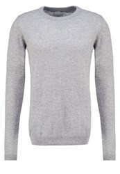 Minimum Moxham Jumper Light Grey Mottled Grey