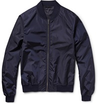 Gucci Reversible Satin Bomber Jacket Blue